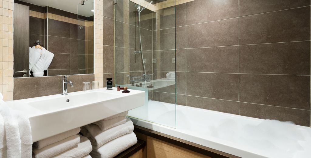And some feature a beautiful bathroom