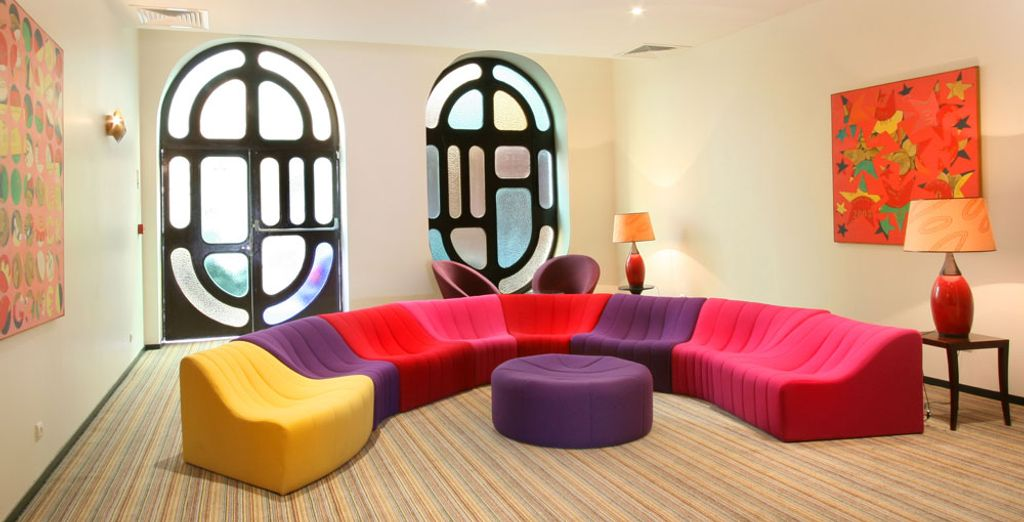 Then relax in the common areas after a day of being out and about the city
