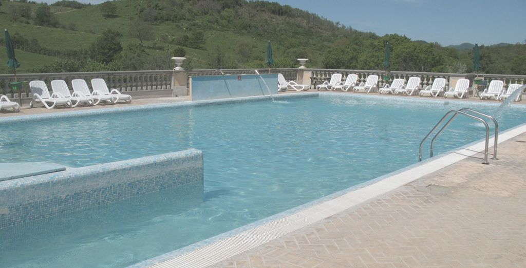 Or try a refreshing swim in the outdoor thermal pools
