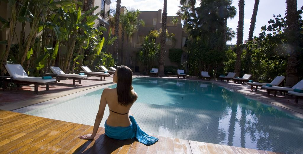 Relax by the outdoor pool