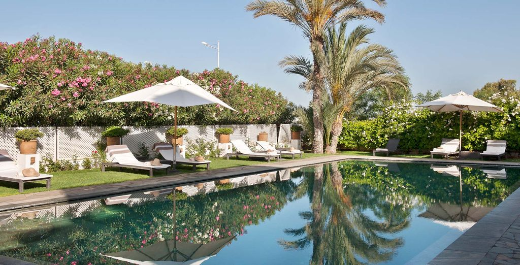 Soak up the sunshine next to the outdoor pool