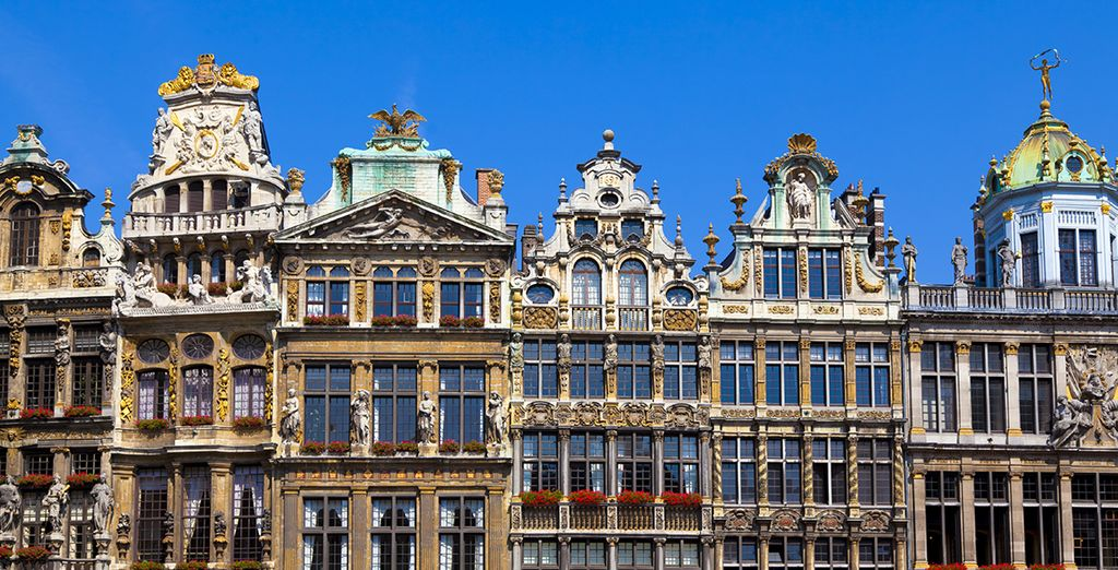 ... The facades of the Grand Place