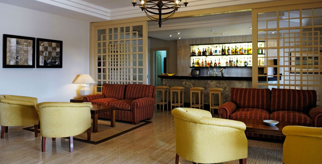 Relax in the hotel bar...