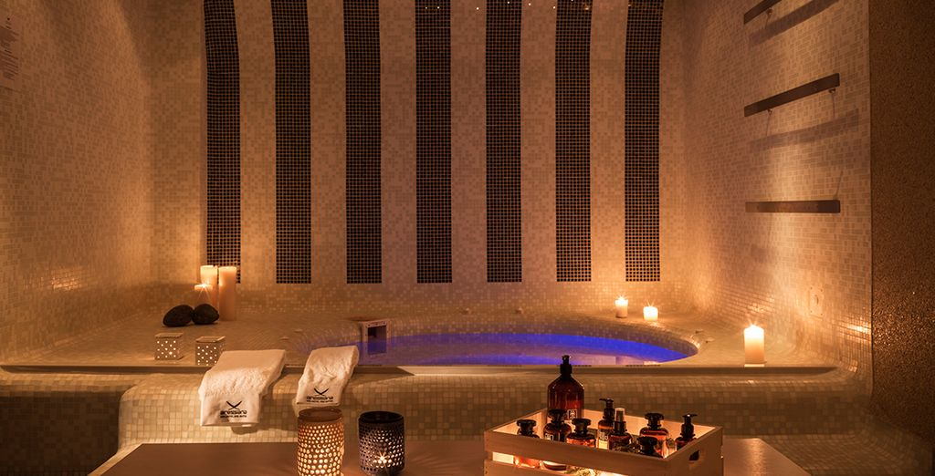 With a Jacuzzi and soothing ambience