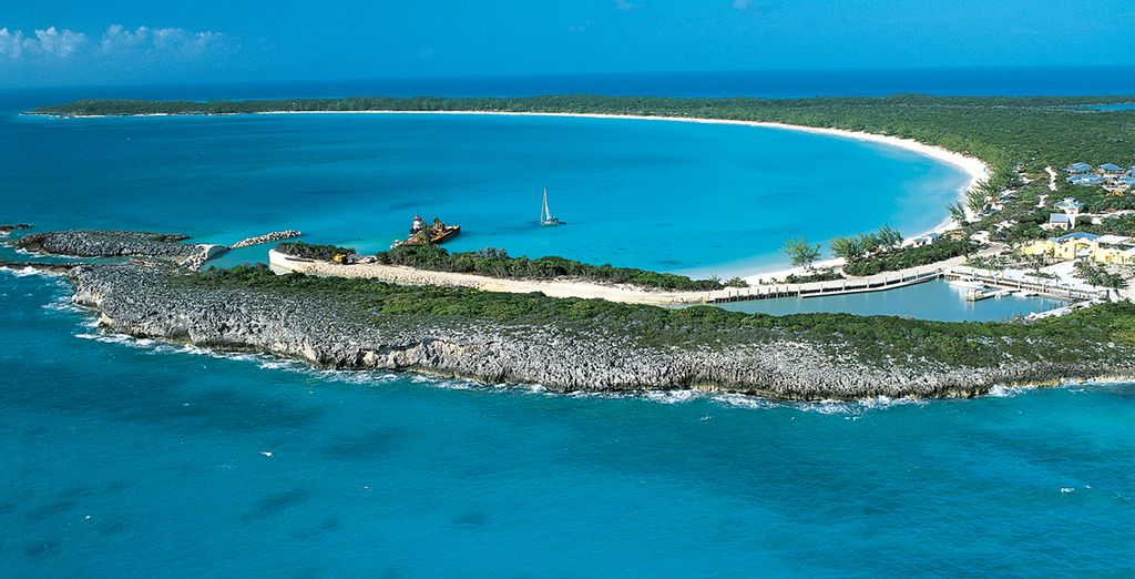 Cooling off in crystalline waters (pictured: Half Moon Cay, Bahamas)