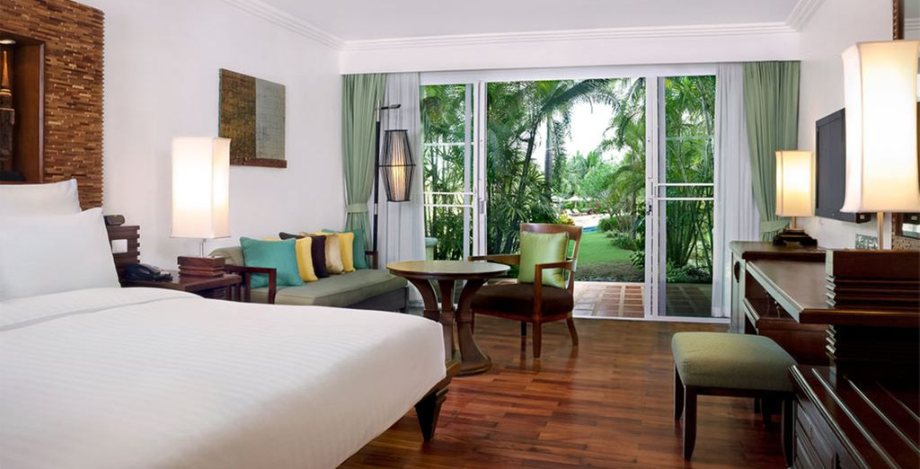 Where your spacious Deluxe Room