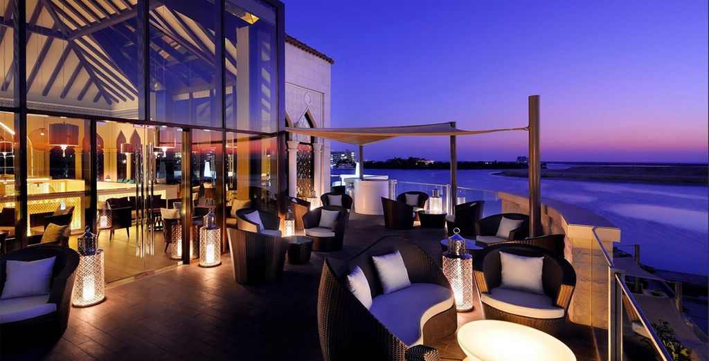 End your day at the rooftop terrace, sipping cocktails with amazing views