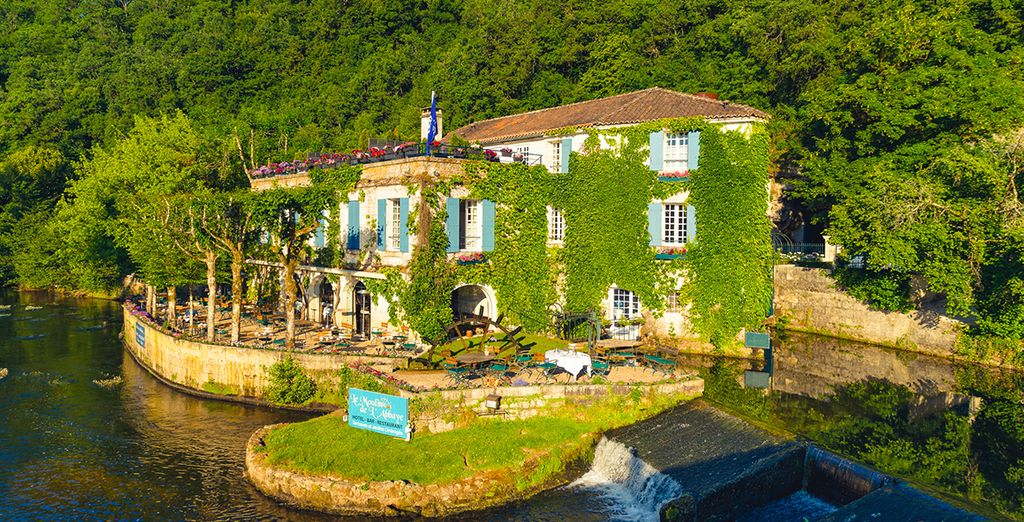 A charming riverside property
