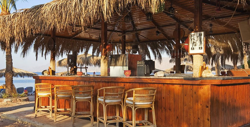 Or relax on the beach at the Pirate's Bar