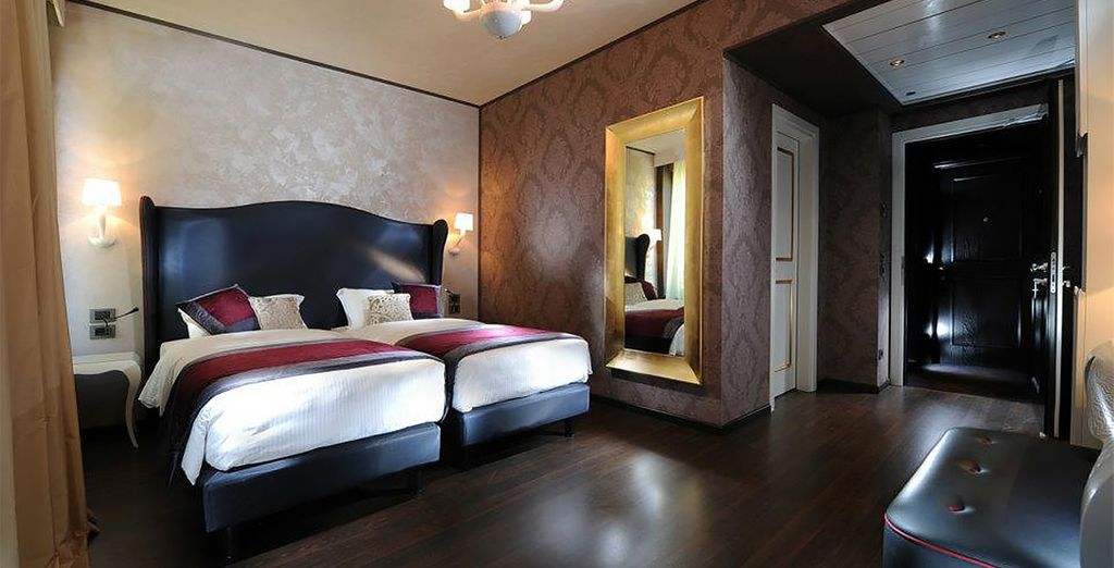So you can have a refined holiday overlooking a historic canal (pictured: Superior Room)