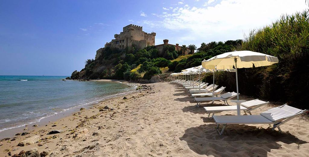 Soak up the sun, with the Mediterranean Sea just steps away