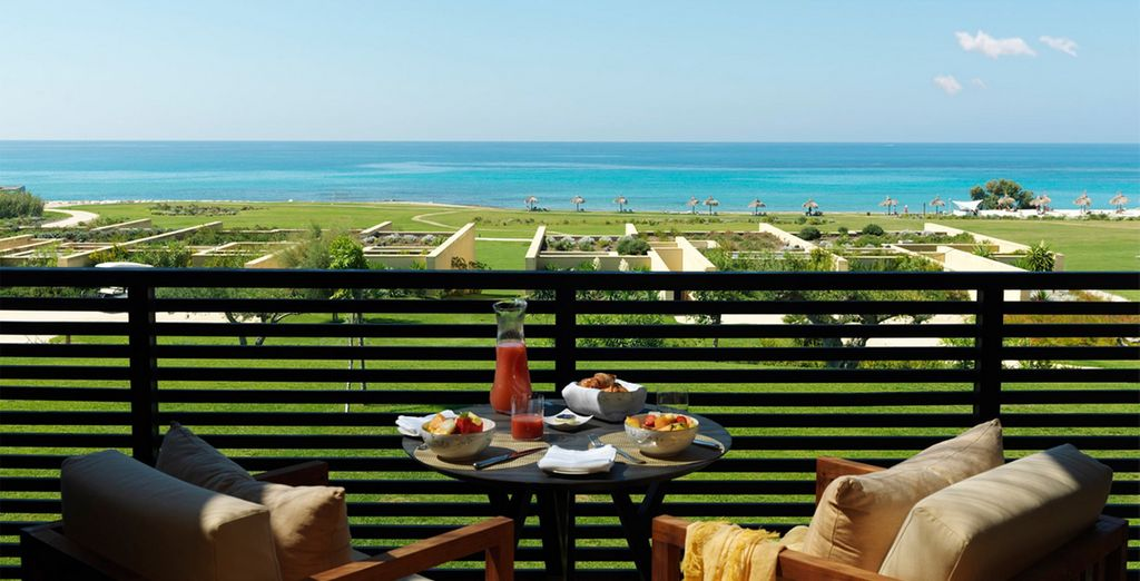 Admire beautiful views with your breakfast