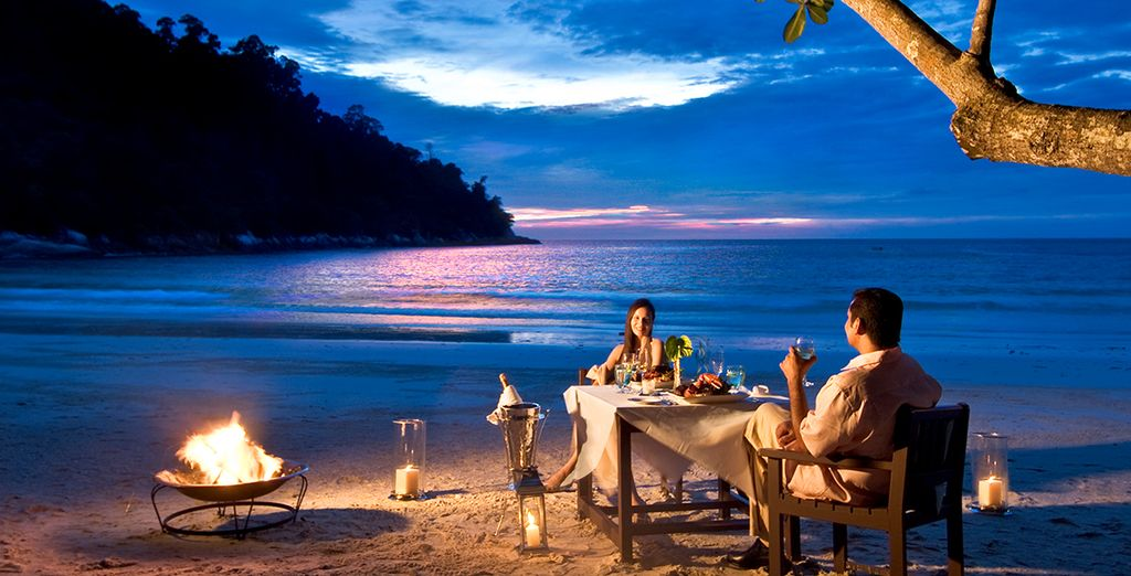 Or choose private beach dining for the ultimate romantic evening