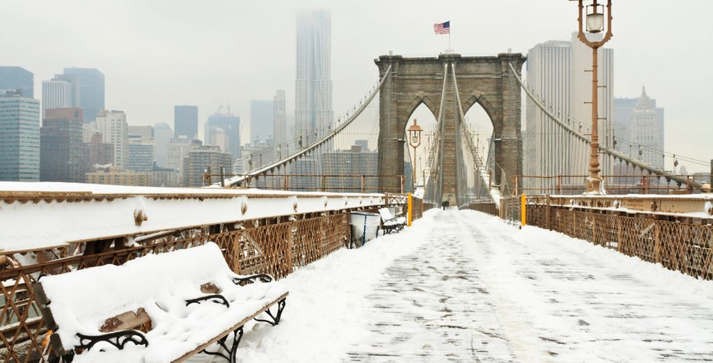 Head out and explore the city's famous landmarks this winter