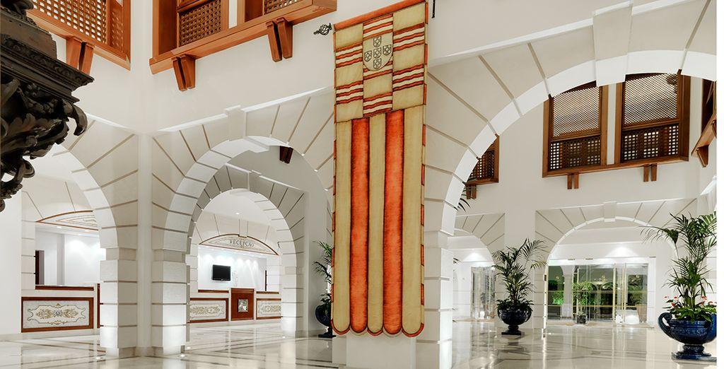 Featuring serene Moorish Architecture
