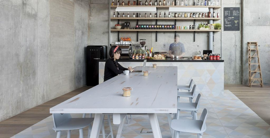 Or chill out in the hip cafe, Boki