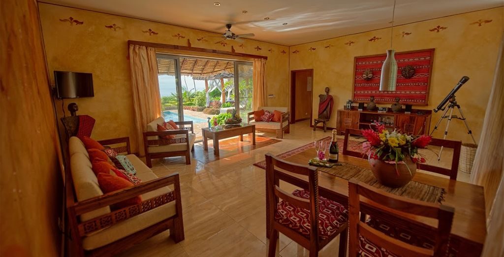 Your African Eco Villa is luxuriously spacious