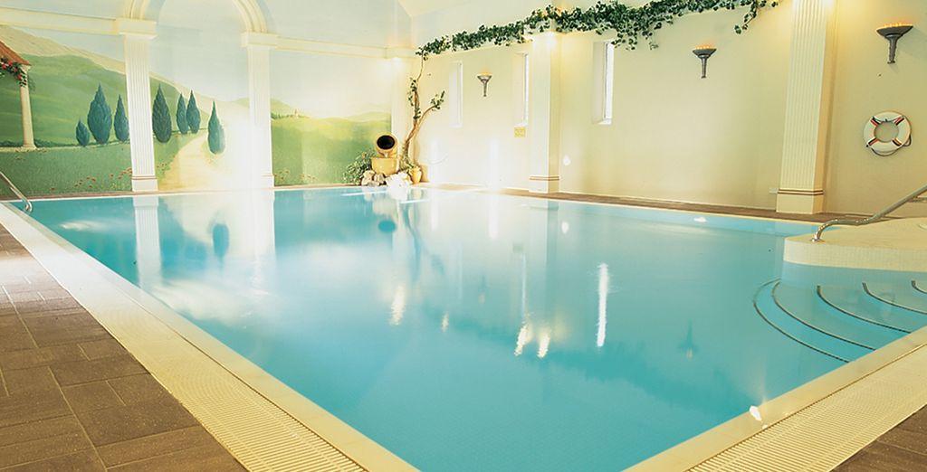 Swim in the hotel's beautiful pool