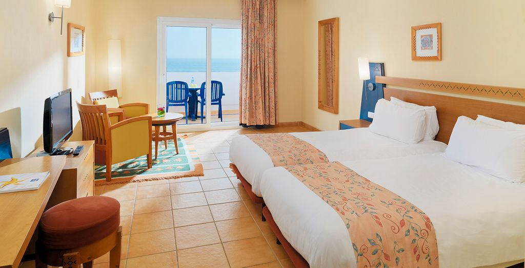 Stay in a Double Room with sea views