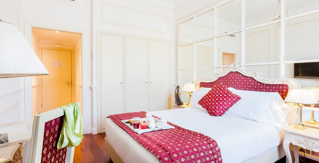 Where you'll enjoy 1 night stay at the 5* Grand Hotel Ritz Roma