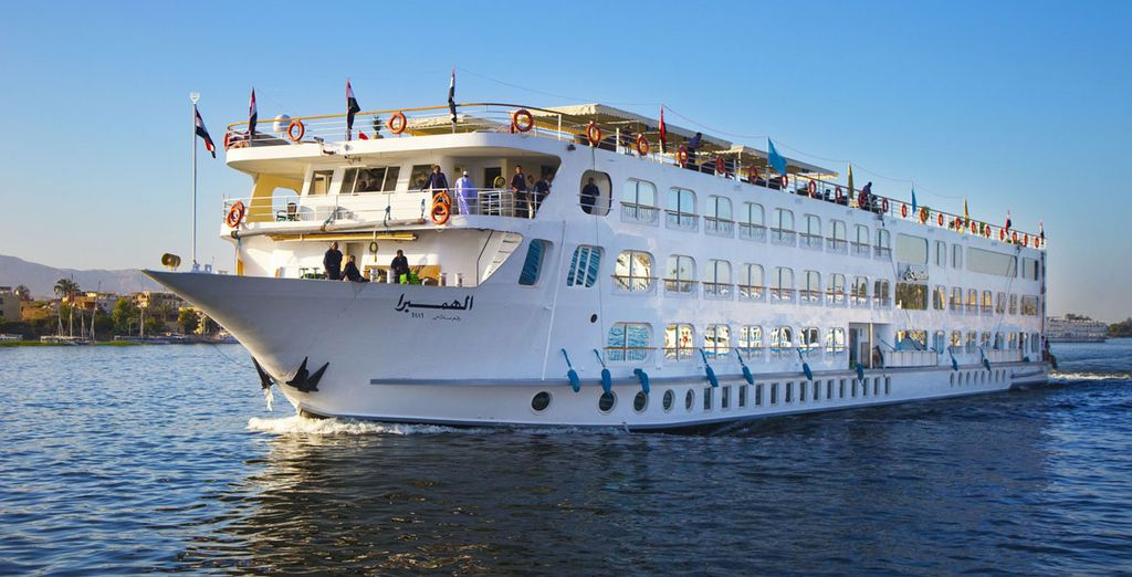 On board the amazing Alhambra - Alhambra Nile Cruise 5* Nile River