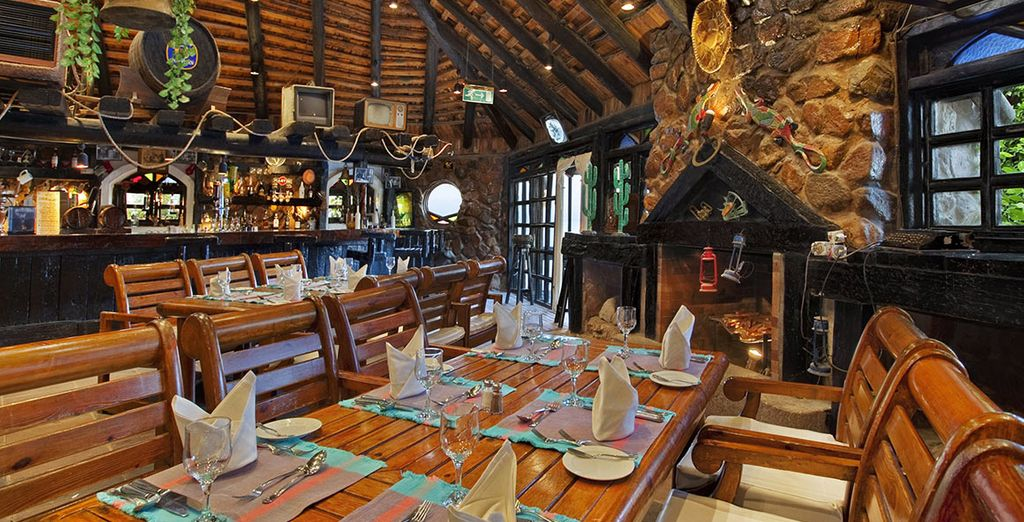 There a great variety of restaurants & bars
