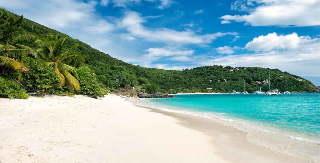 And the aptly named White Bay, considered one of the world's most beautiful beaches