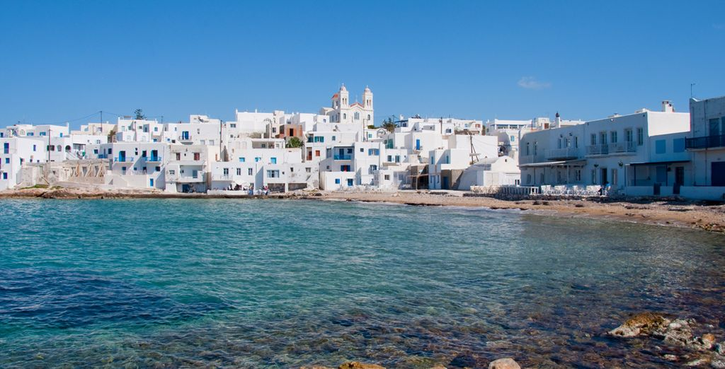 In the charming Greek island of Paros