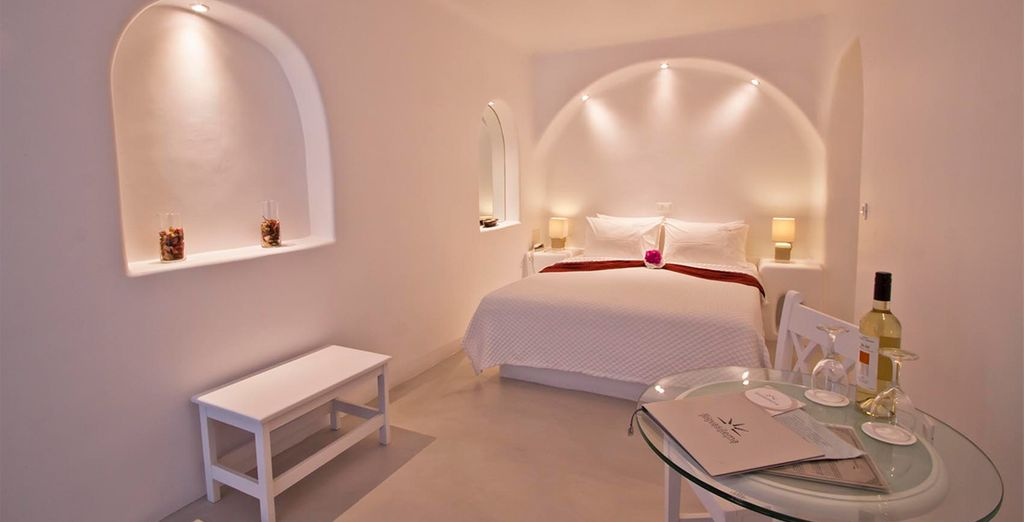 Our members may choose from a Double Room with Caldera View