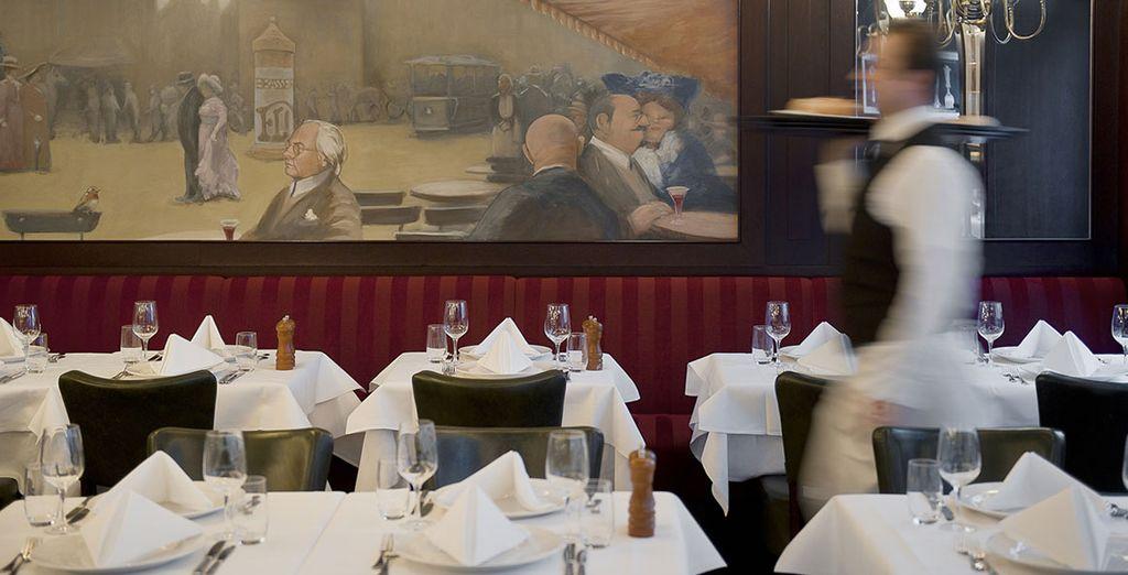 Crisp white table linen, good wine and brasserie classics like steak tartare and côte de boeuf