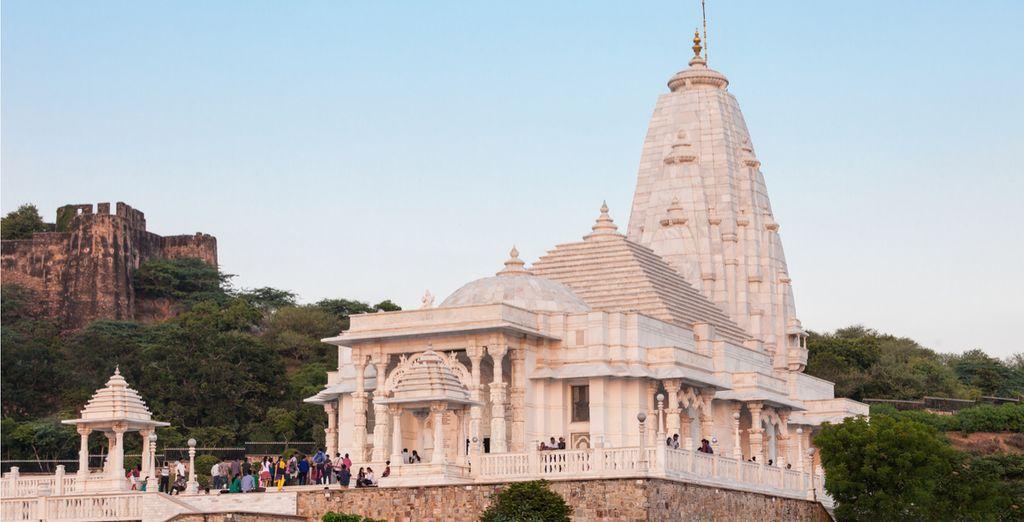 See the Birla Mandir, a proud architectural landmark of Jaipur