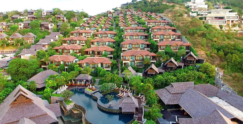 Nora Buri Resort & Spa is nestled in the hillside in Koh Samui