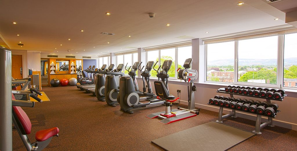 Enjoy free access to the well-equipped fitness suite
