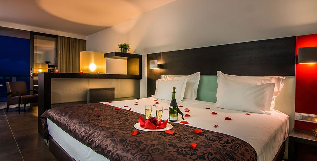 Our members can choose between a romantic Deluxe Suite
