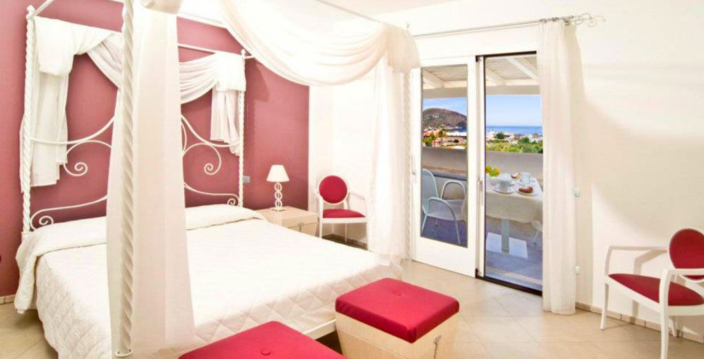 Or opt for a Superior Sea View Room for generous views of the Mediterranean