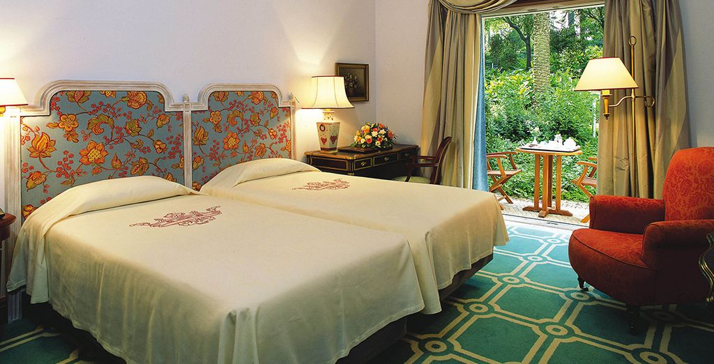 Then head to your Classic Garden View Room