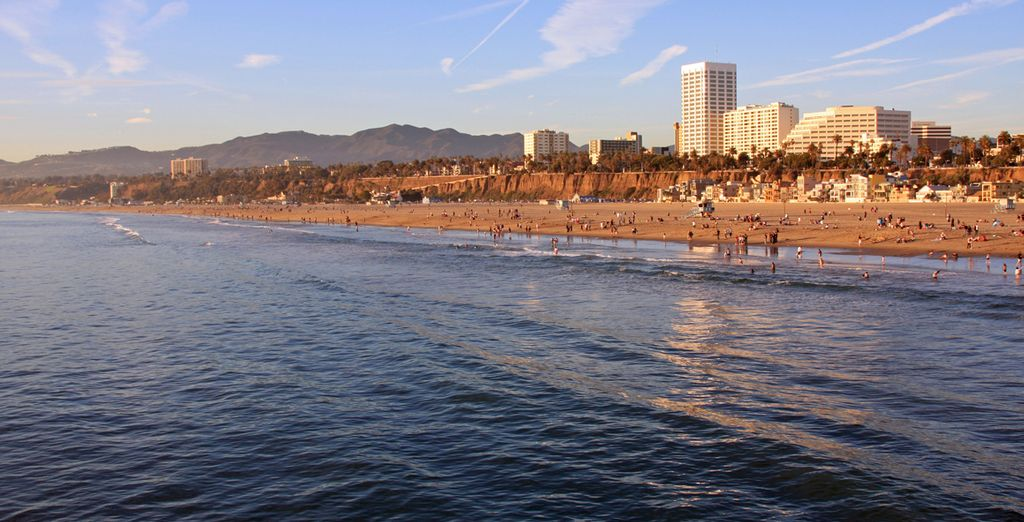 Enjoy Los Angeles, known for its golden beaches and glistening seas