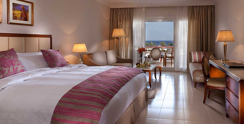 Where you will stay in a Seaview Room