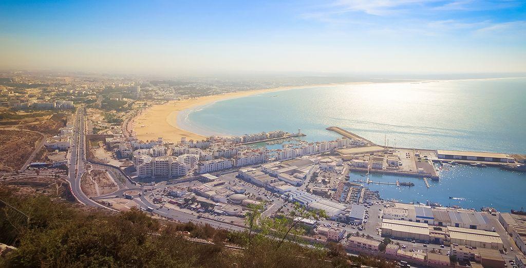 Explore Agadir's beaches..