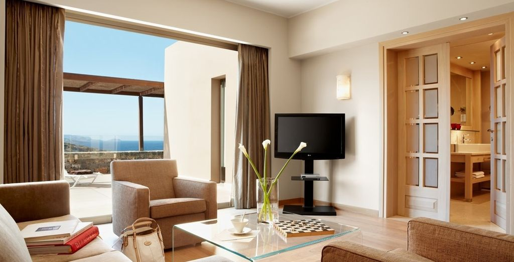 Or choose a One Bedroom Sea View Suite for more space and luxury