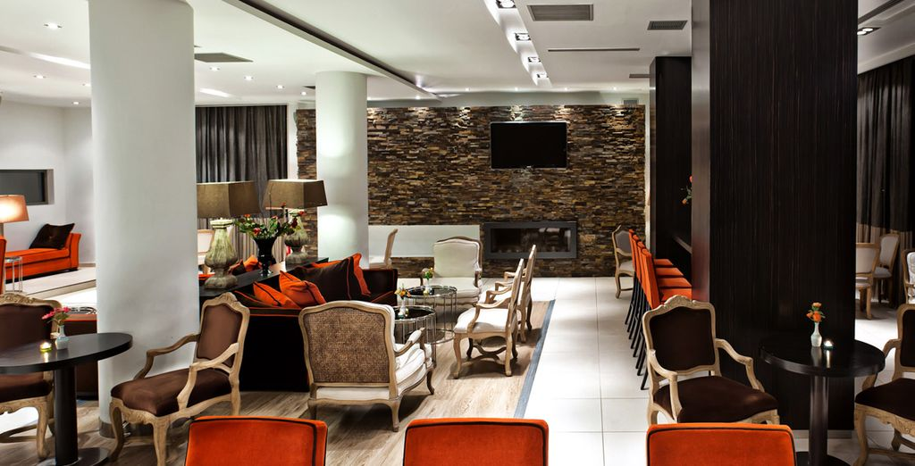 Chill out in the plush lounge