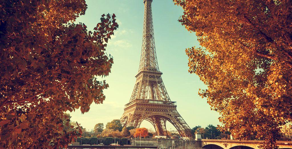 ...The imposing Eiffel Tower...