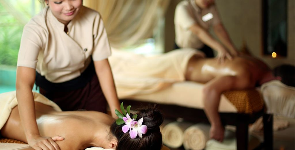 On your return, relax with an indulgent massage