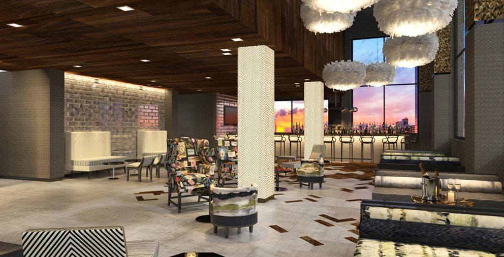 Trendy decor and upscale amenities
