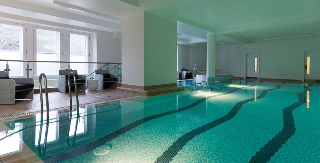 Take a refreshing dip in the indoor swimming pool