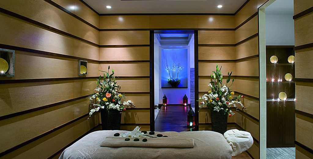 You can also enjoy the hotel's own spa...
