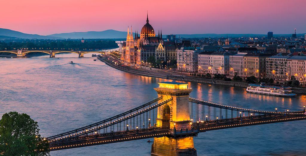 Enjoy beautiful views of the Danube