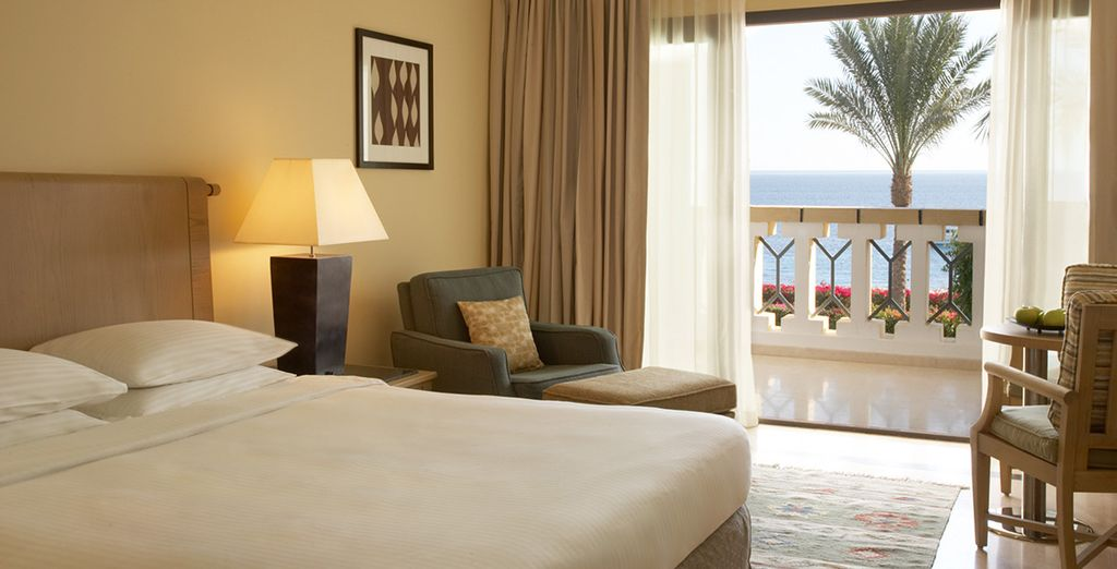 You will be upgraded to a Seafront Room