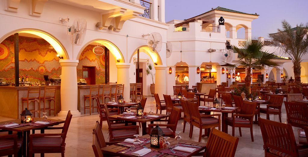 Enjoy a variety of restaurants with your choice of Half Board or Full Board dining