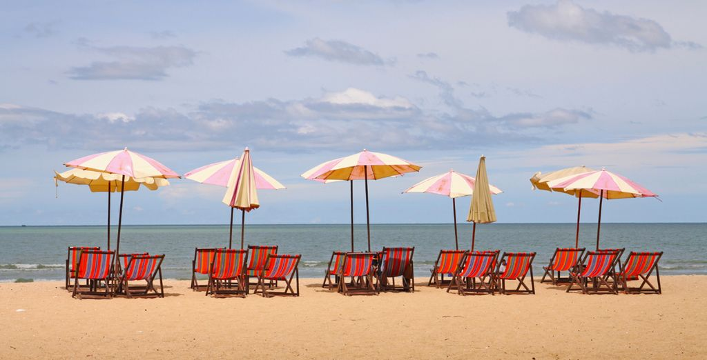 Bathe on the hot golden sands for the perfect end to your holiday
